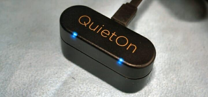 quieton sleep earbuds in charging mode